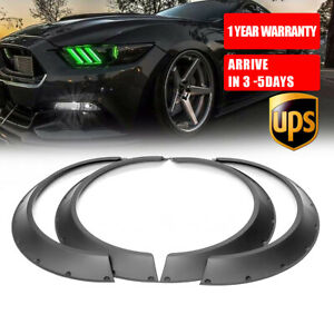 4x Flexible Fender Flares 3 5 Extra Wide Body Wheel Arches For Ford Mustang Us