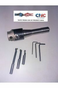 Boring Head Set 1 75 Size Set With R 8 Arbor And 3 Pieces Carbide Cutters