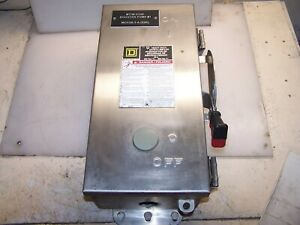 Square D 30 Amp Stainless Non fused Safety Switch 600 Vac Hu361ds Nema 3r 4x 12