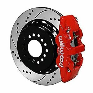 Wilwood 140 10950 dr W4a Rear P brk Kit 14 00 Drill Red 2005 Up Mustang