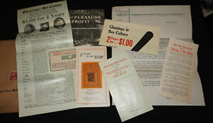 Vintage Gleanings In Bee Culture Magazine Sales Correspondence Root Beekeeping