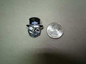 Silver 30s 40s Chevy Man Pin Jacket Hat Pin Chevy Pin Bomb Pin Chevy Advertising