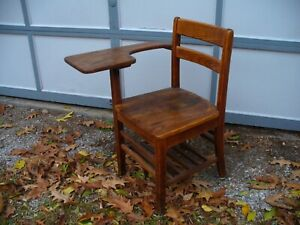 Old Vintage Antique Child S School Desk Chair