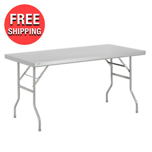30 X 60 Commercial Stainless Steel Folding Work Prep Tables Open Kitchen Nsf