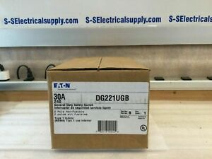 Cutler Hammer Dg221ugb 30 Amp 240v 2 Pole Non Fusible Disconnect Switch