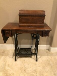 Wheeler Wilson Treadle Sewing Machine D 9 Box With Attachments