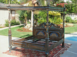 Beautiful Griffin Queen Anne Four Poster Canopy Bed