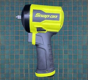 New Snap On 3 8 Super Duty Stubby Air Impact Wrench Pt338hv Yellow Hi Viz