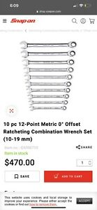 Snap On Ratchet Wrench Set Metric