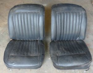 1961 1962 Corvette Used Original Seats Black Very Solid And Could Be Used As Is