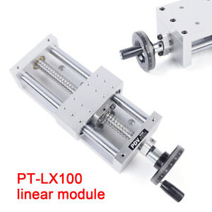 Cnc Linear Rail Stage Actuator 130mm Manual Sliding Table Ballscrew Sfu1605 New