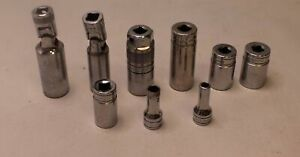 Lot Of 9 Snap On Tools 3 8 Drive 6 Point Flank Drive Sockets