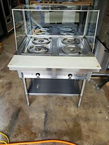 Eagle Group Sdht2 208 2 well Stationary Electric Hot Food Steam Table