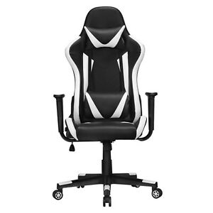 Yaheetech Executive Adjustable High Back Faux Leather Swivel Gaming Chair Balck