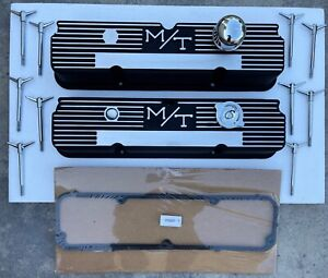 Ford Mickey Thompson M T 360 390 427 428 Aluminum Finned Valve Covers 103r 56