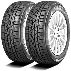2 New Toyo Celsius 225 40r18 92v A S All Season Winter Safety Driving Tires
