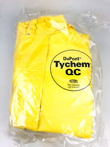 Dupont Hooded Chemical Resistant Coveralls Sz Medium Yellow Tychem r 2000 4pk