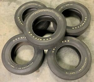 Vintage Oem Goodyear Polyglas Gt F60 15 Tires Set Of 5 For Matching Spare
