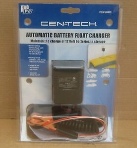 Cen Tech 12v Automatic Battery Float Charger Tender Trickle Charger 69955