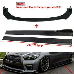Front Bumper Lip 78 7 Side Skirt Extention Kit For Chevy Camaro 2010 2021 k