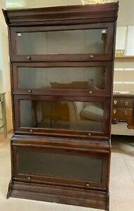 Lawyers 4 Section Stacking Barrister Bookcase