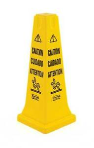 Rubbermaid Fg627700yel Safety Cone Caution Eng sp fr