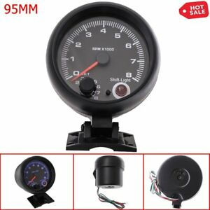 95mm 0 8000rpm Tachometer With Internal Shift Light 7 Colors For Car Motorcycle