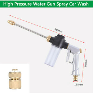 Pressure Power Wand Car Washer Water Spray Gun With Nozzle Adapter Home Garden