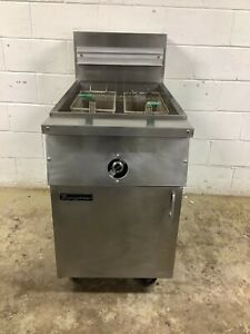 80lb Fryer Frymaster Mjcfsd Natural Gas Tested