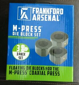 NEW Frankford Arsenal M Press 3 Die Block Set Coaxial Reloading 1097880 $22.00