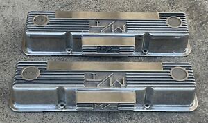 Vintage Chevy M T Mickey Thompson Aluminum Valve Covers With M T Mickey Thompson