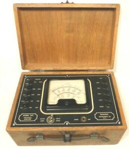 Vintage Working Triangle Instrument Model 247 Industrial Analyzer Directions