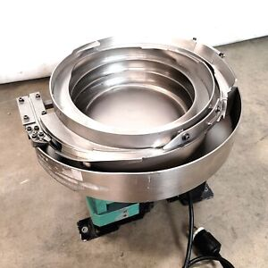 14 Stainless Steel Vibratory Bowl Parts Feeder 120vac