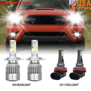 For Toyota Tacoma 2012 2015 Led Headlight Fog Lights High low Beam Bulbs 6000k