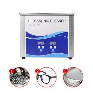 3 2l Ultrasonic Cleaner Cleaning Dental Tools Jewelry Heated W Timer Heater Fda
