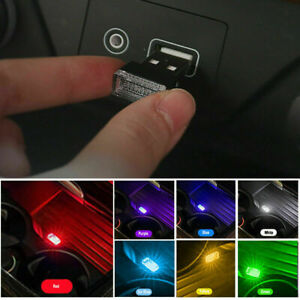 1 Usb Led Car Interior Light Neon Atmosphere Ambient Lamp Bulb Accessories