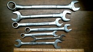 Lot M6c 7 Diff Craftsman Comb Box Open End Wrenches Usa Free Priority