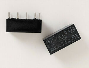 Omron Dual Coil Relay Latching G6ak 234p st us 5vdc 2a Contacts 2pcs