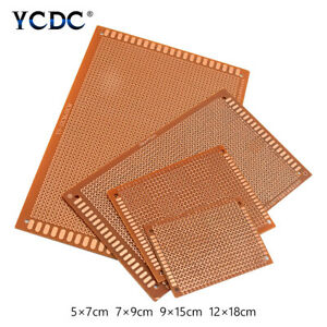 Proto Strip Board Pcb Printed Circuit Breadboard For Electronic Diy Projects 3b