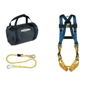 Werner K122023 Aerial Kit With Basewear Std Harness 6 foot Softcoil Lanyard 1