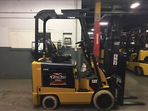 Cat 3500 Lb Electric Forklift With Side Shift And Triple Mast 6100 Hours