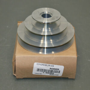 Congress Stepped V belt Pulley Sca400 3x062kw 5 8 Bore 3 Groove 4l A Zinc