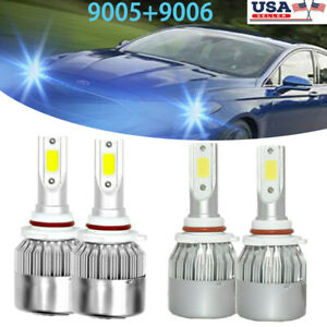 Blue 9005 9006 Led Headlight Bulb Hi l Beam C6 For Buick Century Regal 1997 2005