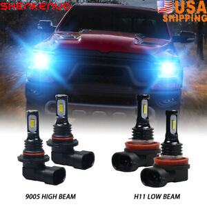 For Dodge Ram 1500 2009 18 8000k Led Headlight High low Fog Light Bulb Combo Kit