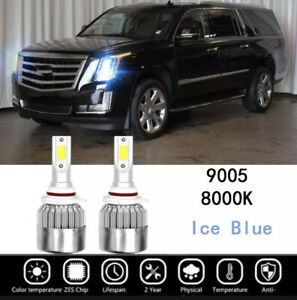 9005 Led Headlight Bulb 8000k For Cadillac Escalade 2003 2006 Ice Blue High Beam
