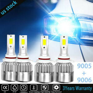 Combo Led Headlight High Low Beam Light Bulb 8000k C6 For Toyota Rav4 2006 2007