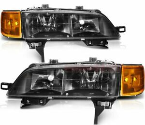 For 1994 1997 Honda Accord Headlights Assembly Front Head Lamp Left Right Side
