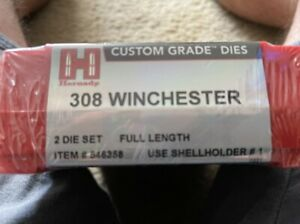 Hornady 308 Win Dies. Will include shell holder or reduce price by $10 if not w $70.00