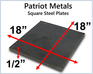 Square Steel Plate 1 2 Thick 18 Diameter A36 Steel made In Usa
