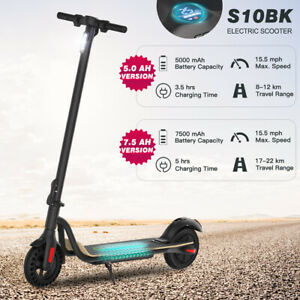 Folding Adult Electric Scooter Long Range 250w 36v Up To 15mph 5 0ah 7 5ah